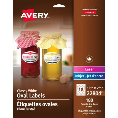 Étiquettes ovales Avery®, 22804