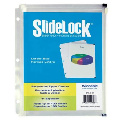 Pochette-reliure Slidelock de Winnable, 11-1/2 x 9-1/2 po