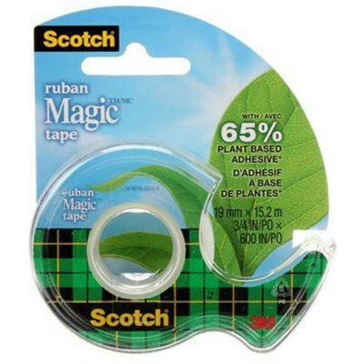 Ruban adhésif invisible Scotch® Magic™ Dévidoir, 19 mm x 15,2 m