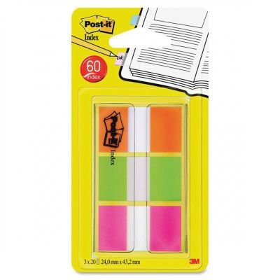 Languettes Post-it de 3M, rouge, vert, rose